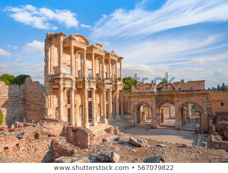 library of celsus in ephesus stock photo © grafvision