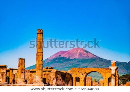 Nápoles · vulcão · Itália · porta · retro · paisagem - foto stock © alex9500