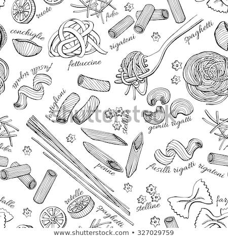 Desenho animado bonitinho comida italiana ilustração colorido Foto stock © balabolka