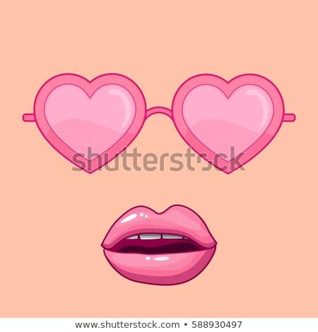 Feliz casal óculos de sol dia dos namorados amor pessoas Foto stock © dolgachov