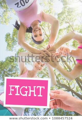 борьбе текста стороны карт розовый Сток-фото © wavebreak_media