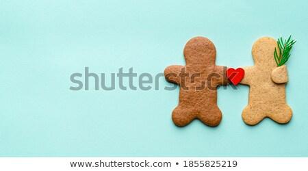 Man vrouw handen peperkoek hart Stockfoto © dariazu