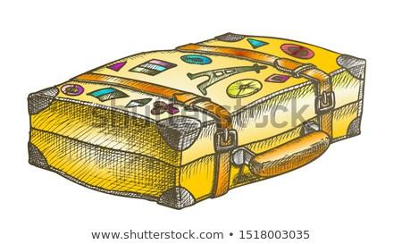Vintage · чемодан · белый · иллюстрация · фон · лет - Сток-фото © pikepicture