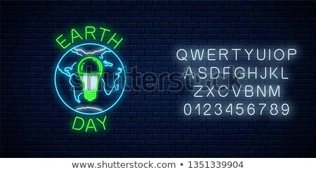 environment day banner of earth shape light bulb stock photo © cienpies