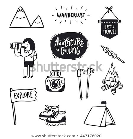 Doodle sport activités design vélo Photo stock © glorcza