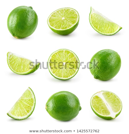 cal · isolado · branco · verde · coquetel · fresco - foto stock © bedo