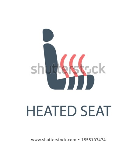 Heated car seat icon. Seat warmer symbol. Stock Vector illustration isolated on white background. Stock photo © kyryloff