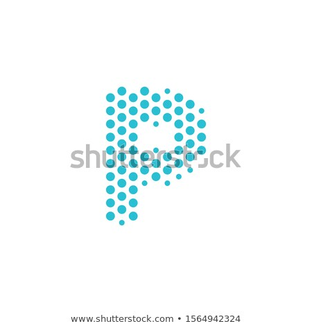 Pontozott p betű logo ábécé részecskék logotípus Stock fotó © kyryloff