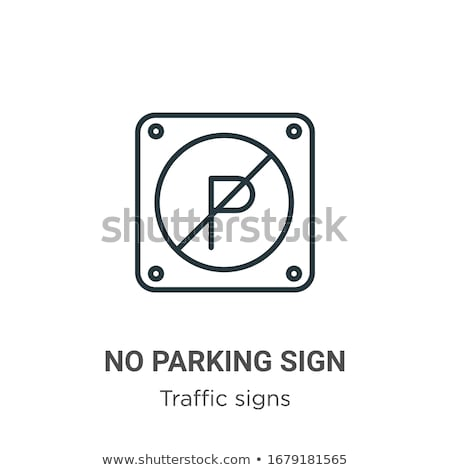 Prohibited Parking Icon Vector Outline Illustration Stock photo © pikepicture