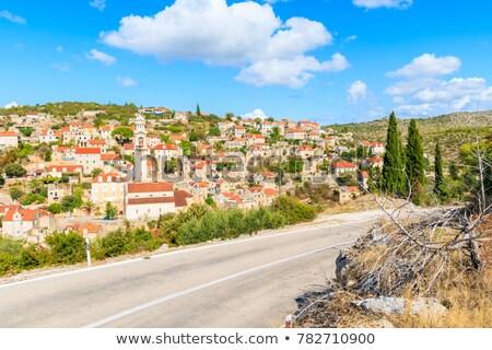 Historic stone village of Lozisca on Brac island Stock photo © smuki