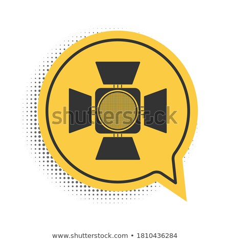 Speech Bubble Shapes Spotlighted on Black Background Stock photo © make