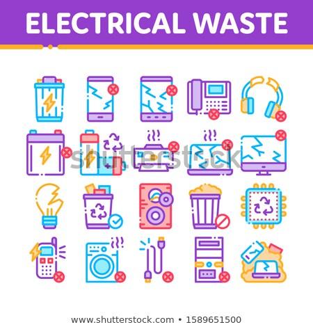 Elektryczne odpadów narzędzia kolekcja wektora Zdjęcia stock © pikepicture