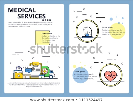 Medicine and healthcare - line design style banners Stock photo © Decorwithme