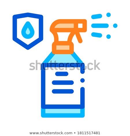 à prova d'água materialismo spray vetor fino linha Foto stock © pikepicture