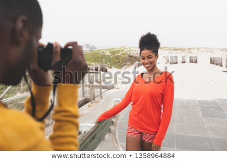 Africano americano homem foto bastante mulher Foto stock © wavebreak_media