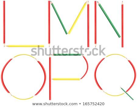 Design colorato matita lettera piazza Foto d'archivio © articular