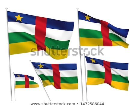 Central African States Waving Flag Set Stock photo © nazlisart