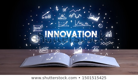 Business inscription coming out from an open book Stock photo © ra2studio