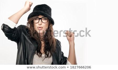 молодые счастливым женщину темно длинные волосы радостный Сток-фото © vkstudio