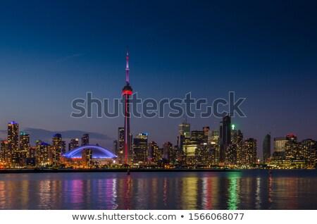 Торонто Skyline серый зданий Blue Sky отражение Сток-фото © ShustrikS
