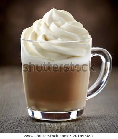 Coffee with Whipped Cream, Beverage with Foam Stock photo © robuart