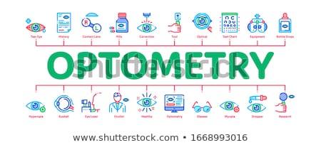 Médicos ayuda mínimo infografía banner vector Foto stock © pikepicture