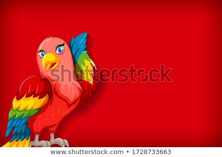 Background template with plain color and colorful parrot Stock photo © bluering