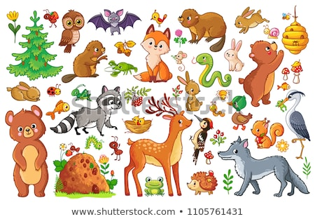 beaver animal character cartoon illustration Stock photo © izakowski