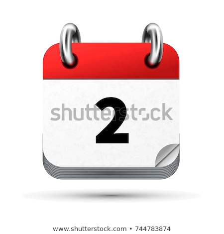 Bright realistic icon of calendar with 2 april date isolated on white Stock photo © evgeny89