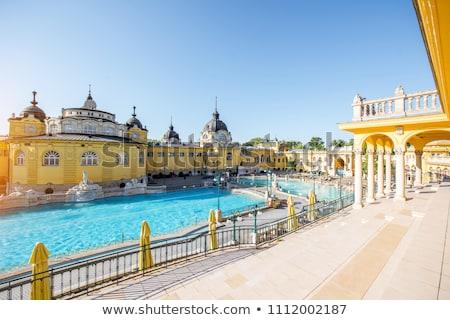 Stok fotoğraf: Banyo · ünlü · spa · yüzme · havuzu · Budapeşte · Macaristan