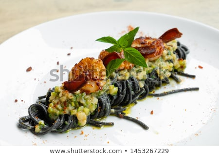 scallop cream pasta Stock photo © olira