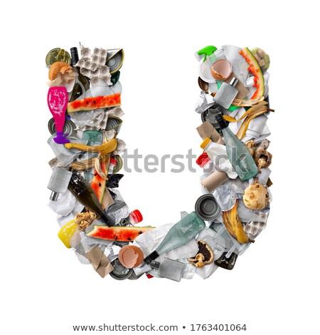 Letter U made of trash Stock photo © grafvision