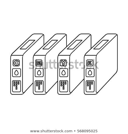 Cor ícone vetor ilustração assinar Foto stock © pikepicture