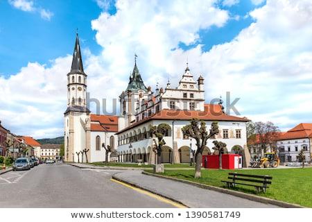Basiliek oude binnenstad hal Slowakije stad zomer Stockfoto © borisb17