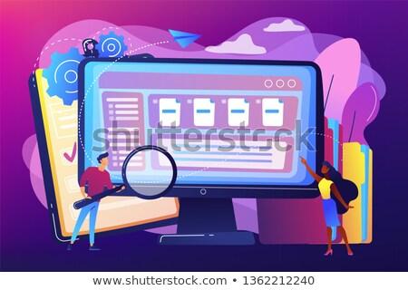 Elettronica documento vettore metafora carta ufficio Foto d'archivio © RAStudio