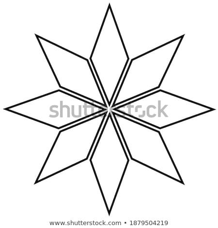 Christmas snowflake on black background. EPS 8 Stock photo © beholdereye