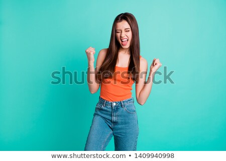 Beautiful girl yells Stock photo © RuslanOmega