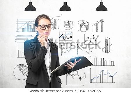 jungen · Business · Lehrer · zunehmend · Gewinn - stock foto © HASLOO