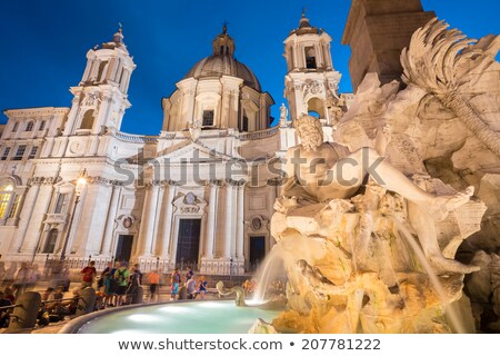 Sant'Agnese in Agone, Piazza Navona in Rome Stock photo © vladacanon