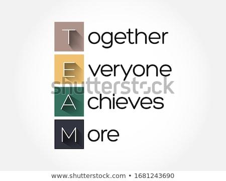 Akronim zespołu wraz wszyscy tle biały Zdjęcia stock © bbbar