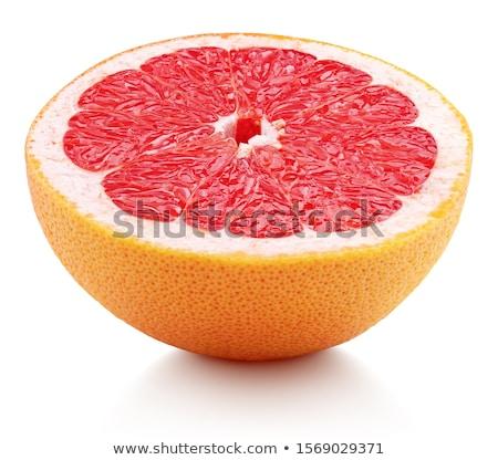 Mitad pomelo gotas aislado blanco alimentos Foto stock © smithore