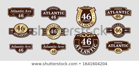 many address plate Stock photo © smithore