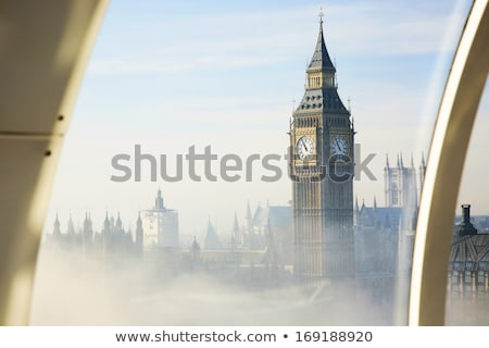 London City aerial view with Big Ben Stock photo © prill