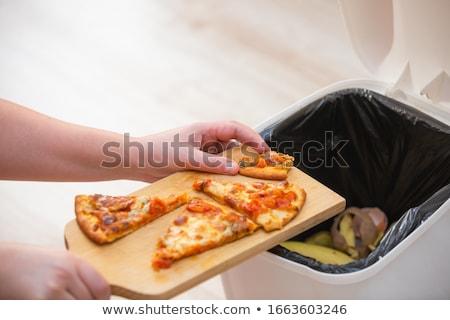 mulher · desperdiçar · cesto · de · lixo · jovem · sorrindo - foto stock © Rob_Stark