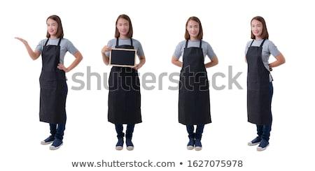 Vrouwelijke schort mode katoen kleding bescherming Stockfoto © ozaiachin