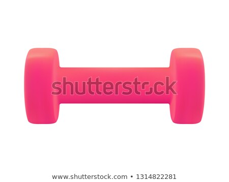 Red dumbbell Weights on white background Stock photo © shutswis