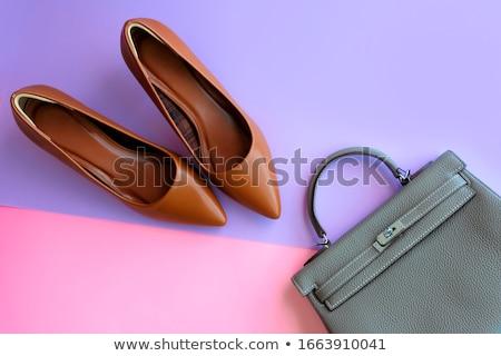 pár · cipők · doboz · divat · piros · ajándék - stock fotó © broker