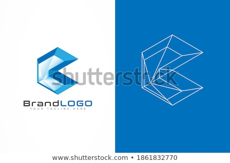 Abstract futuristic 3d background in blue. Vector illustration. stock photo © prokhorov