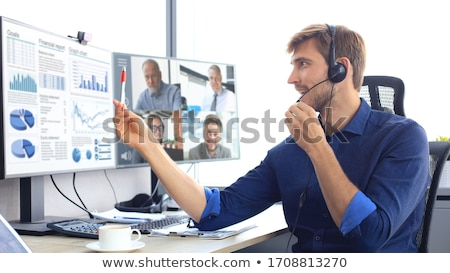 Businessman  concentrating during call Stock photo © photography33