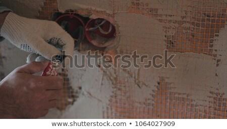 человека осторожно электрические проволоки компьютер Сток-фото © photography33